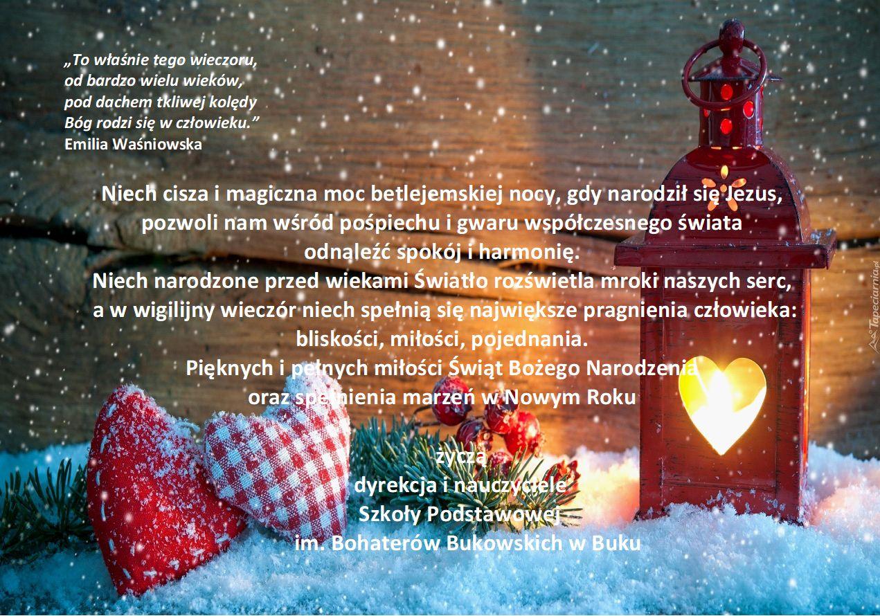c0389064a5170 Życzenia świąteczne – Szkoła Podstawowa im. Bohaterów Bukowskich w Buku