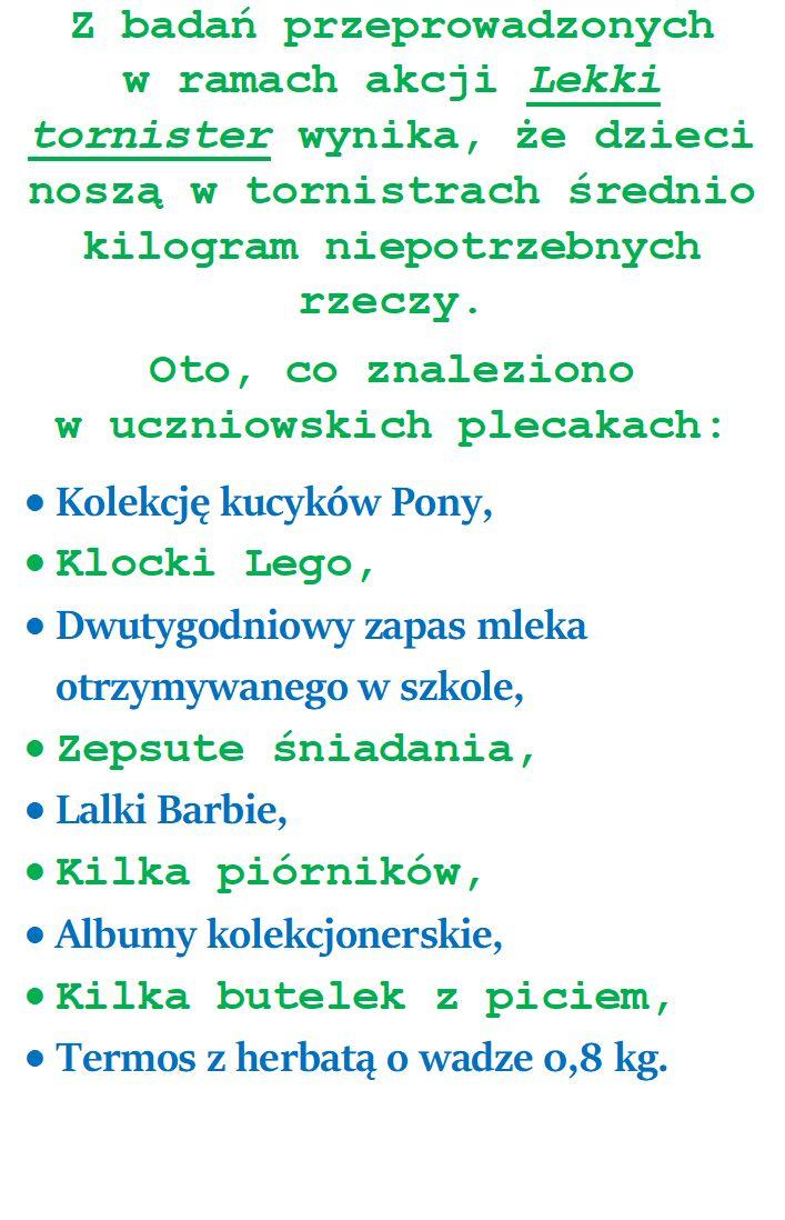 """cd35af2d935e1 Akcja """"Lekki tornister"""" – Szkoła Podstawowa im. Bohaterów Bukowskich ..."""